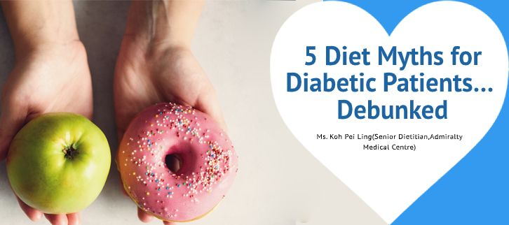 apple and donut comparison for diabetes